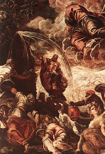 Moses Drawing Water from the Rock [detail: 1] by Jacopo Robusti Tintoretto
